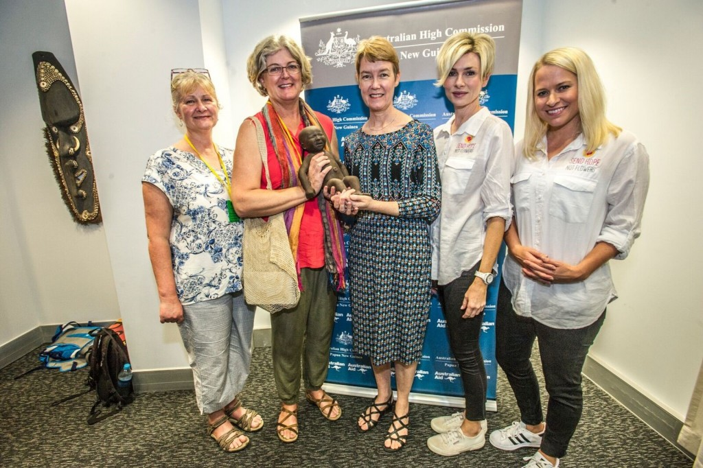 Left to right: Karen Heyward, Sara David, Deputy High Commissioner Bronte Moules, Emma Macdonald and Tara Taubenschlag